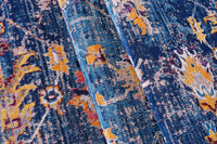 Tremont Dark Blue Traditional Indoor/Outdoor Area Rug