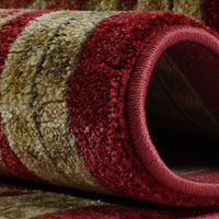 Terra Cherry Red Traditional  Area Rug -