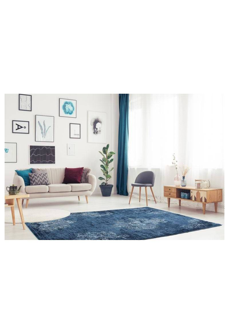 Selina Navy Ivory Traditional Area Rug