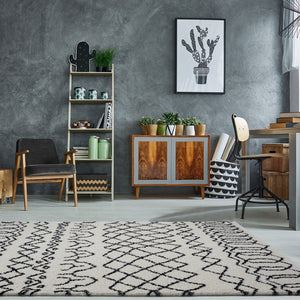 Shaggy Ivory Dark Grey Vancouver Area Rug -