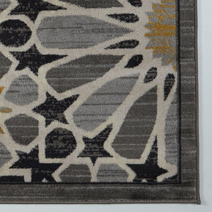 Kingsgate Grey Gold Moroccan Pattern Area Rug -