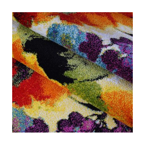 "Contemporary Painting Flowers Style Made by Machine Area Rug Carpet in Multicolor, 4x6 (3'11"" x 5'7"", 120cm x 170cm)"