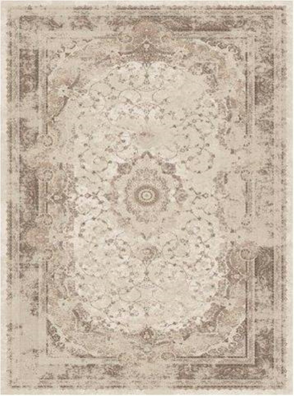 Abrielle Flatweave Cream Beige Traditional Area Rug