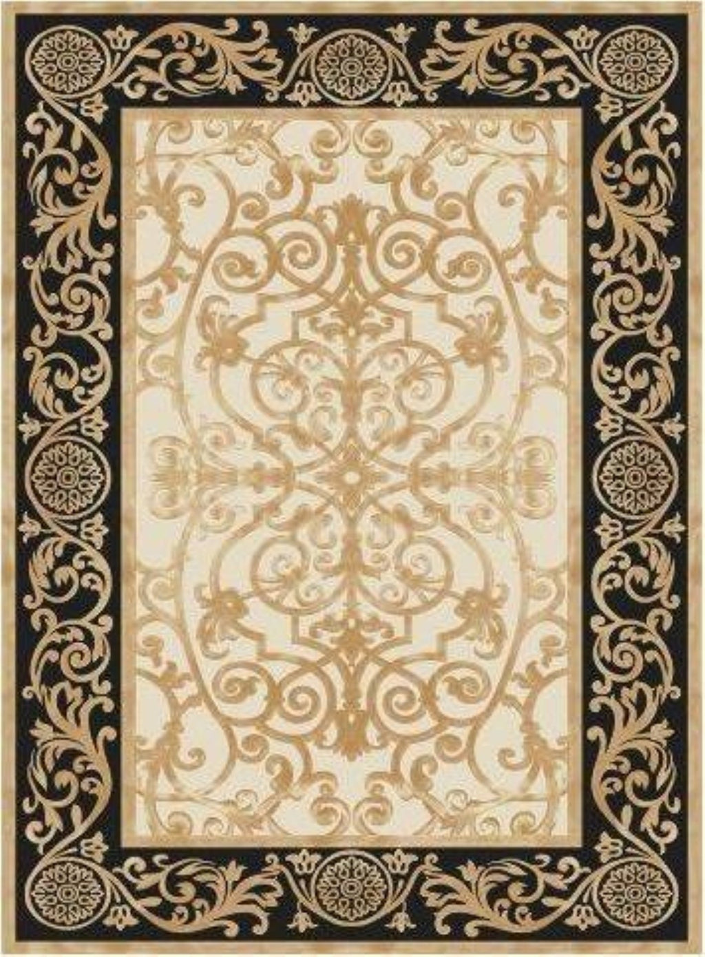 Aruba Black Gold Flatweave Area Rug