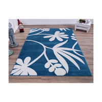 "Botanical Style Simple and Creative Indoor Area Rug Carpet in Blue and Cream, 4x6 (3'11"" x 5'3"", 120cm x 160cm), 3'11"" x 5'3"" (120cm x 160cm), Blue/Cream"