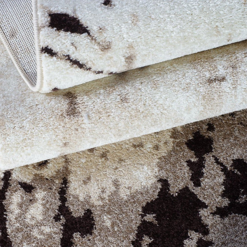 "Anise Caramel Beige Area Rug Modern Contemporary Runner Rug for Bedroom, Living Room, Kitchen and Hallway (2'7"" x 9'10"")"