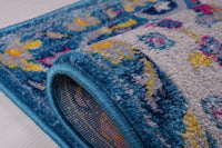 Darcy Persian Traditonal Design Beautiful Durable Soft Indoor Mat Carpet in Blue