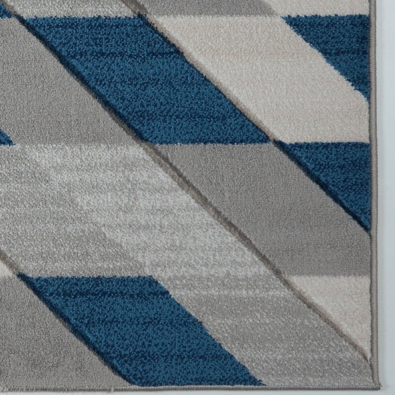 Metrotown Grey Blue Area Rug