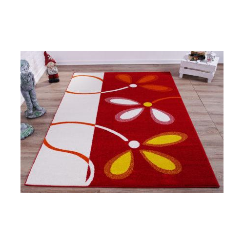"Ladole Rugs Turkish Floral Pattern Soft Stylish Machine Made Kids Area Rug Carpet in Red and Cream, 4x6 (3'11"" x 5'7"", 120cm x 170cm), 3'11"" x 5'7""(120cm x 170cm), Red/Cream"