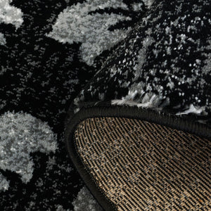 Parma Black Grey Area Rug -