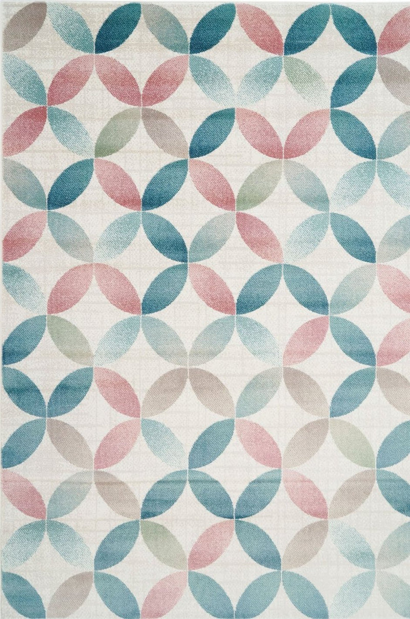 Sezen Multi Color Geometric Area Rug -