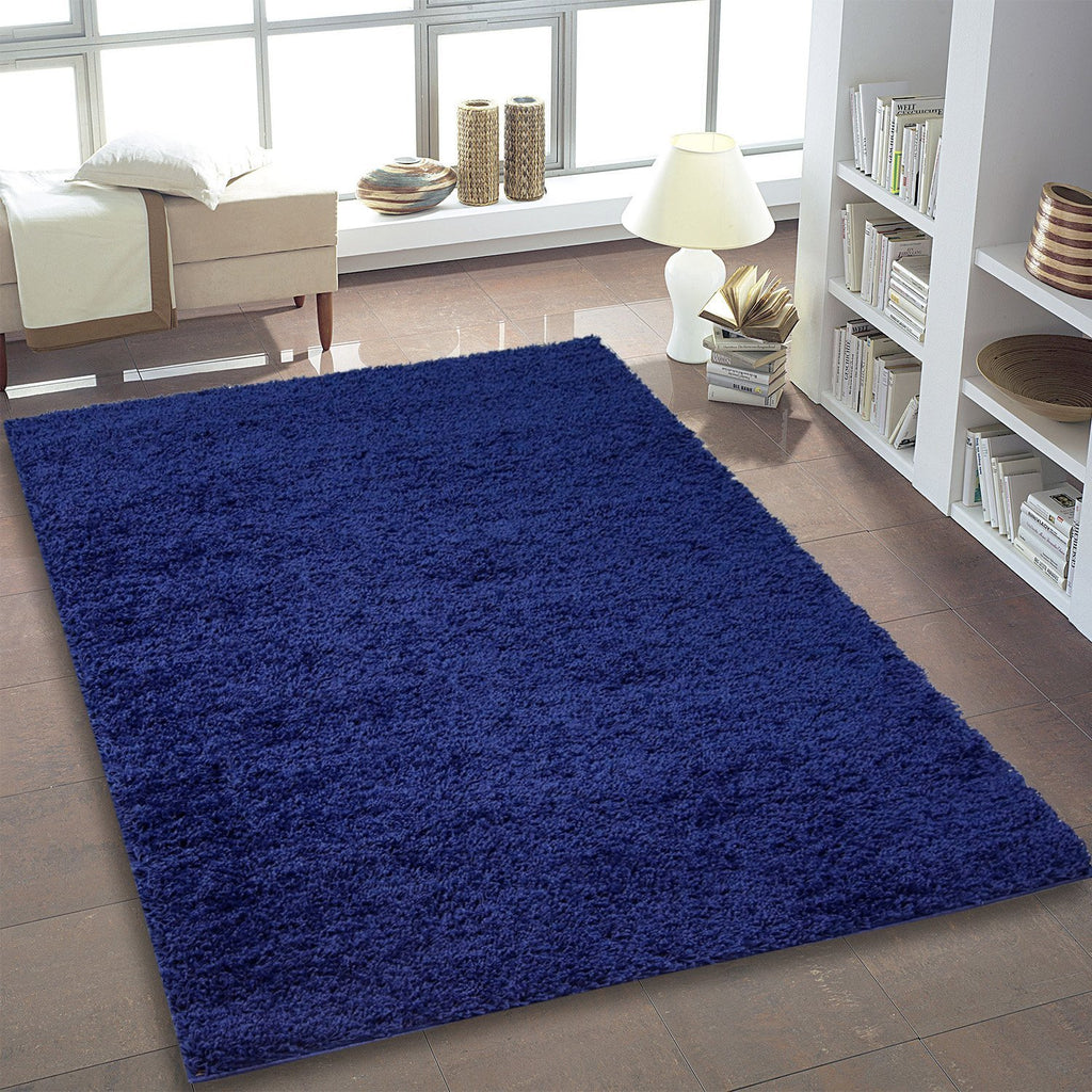 Shaggy Blue Area Rug -