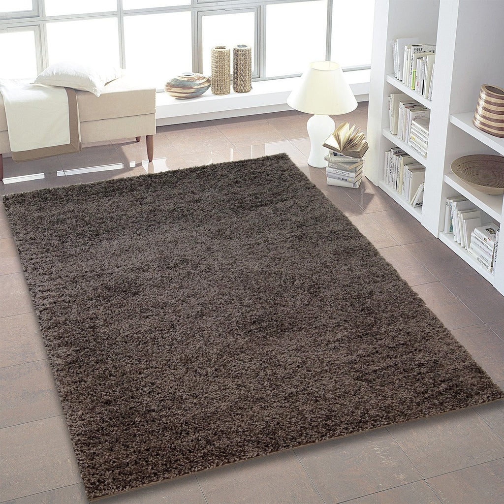 Shaggy Dark Grey Area Rug -