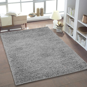 Shaggy Grey Area Rug -