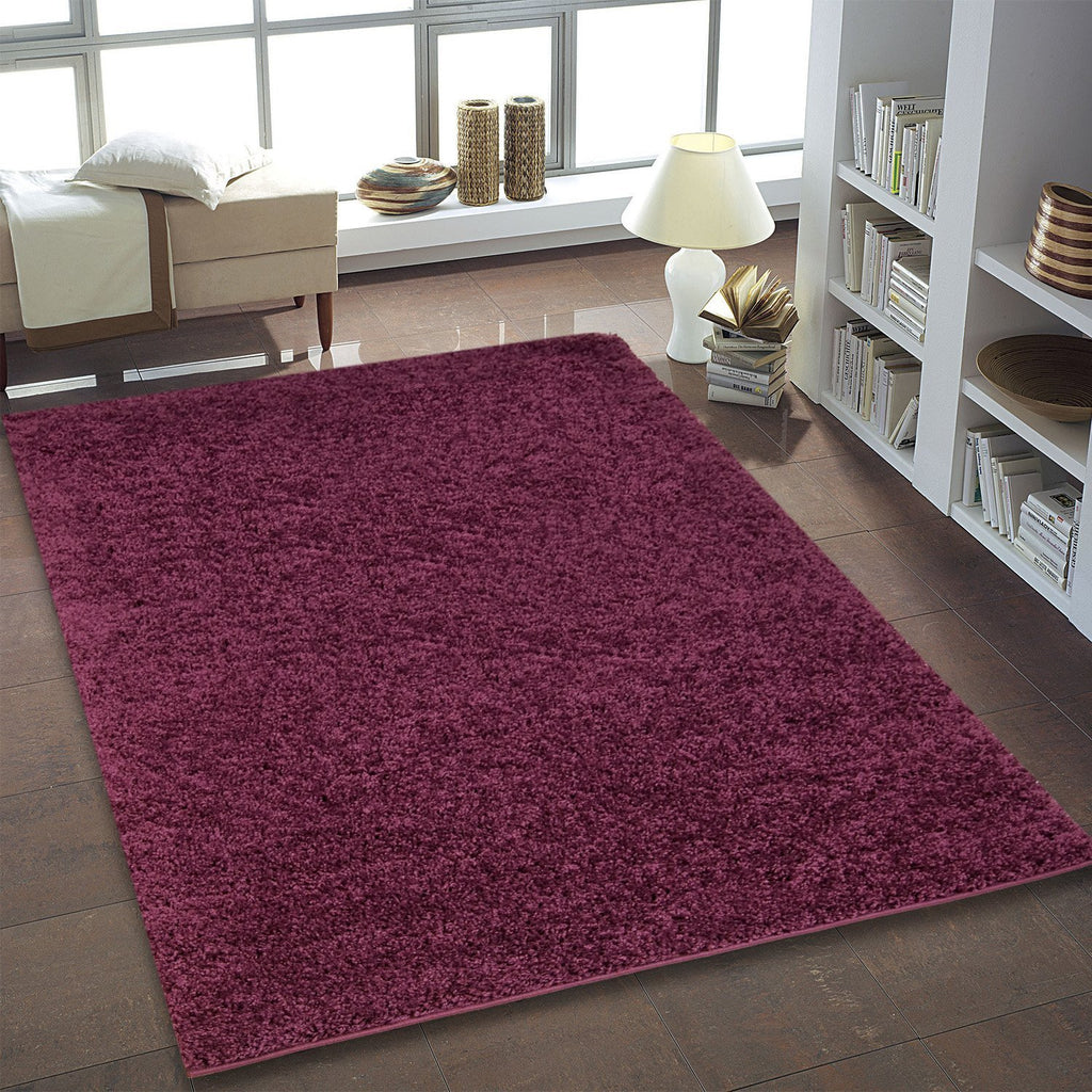 Shaggy Plum Area Rug -
