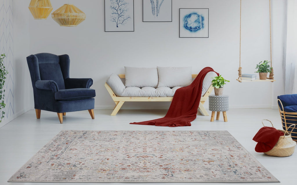 Heritage Cream Grey Area Rug