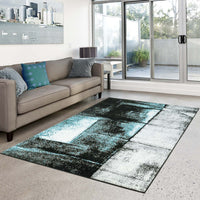 Turkish Turquoise Area Rug -