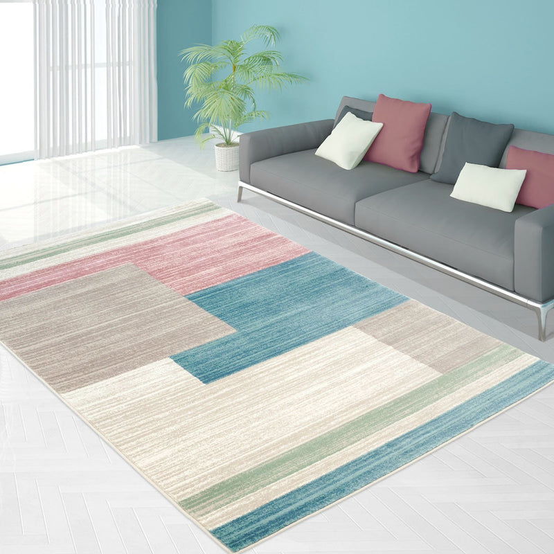 Vintage Multi color Pastel Area Rug -