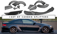 BMW M3 E92 WIDE BODY + SET OF CARBON SPLITTERS
