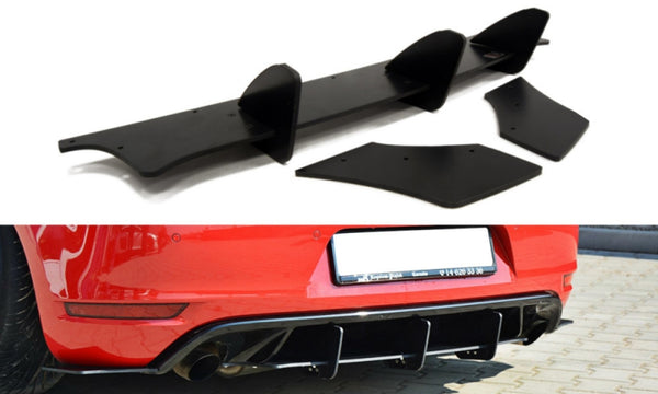 VW GOLF VI GTI / 35TH REAR VALANCE & REAR SIDE SPLITTERS
