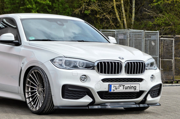 Cup front spoiler lip for BMW X6 F16 with M-package year 2014 - Ingo Noak