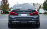 BMW M5 F90 R-Style Carbon Fiber Rear Trunk Spoiler Boot Wing Lip