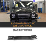Fit for Mercedes Benz G500 G55 G65 G469 G63 modified double carbon fiber front wing roof carbon fiber tails wing spoiler with led
