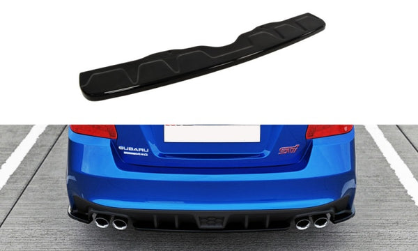 CENTRAL REAR SPLITTER SUBARU WRX STI