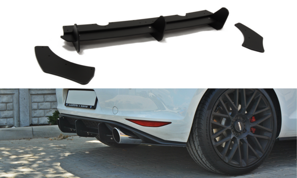 VW GOLF MK7 GTI REAR DIFFUSER & REAR SIDE SPLITTERS