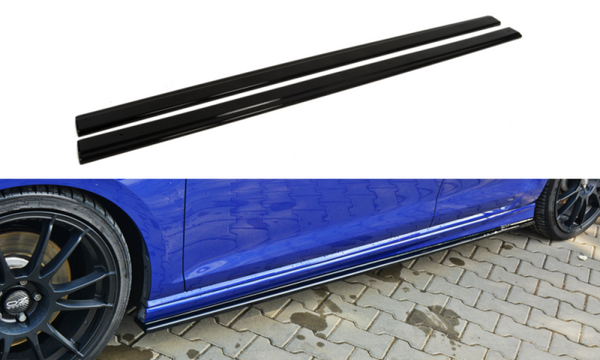 SIDE SKIRTS DIFFUSERS VW GOLF VII R HATCHBACK & ESTATE