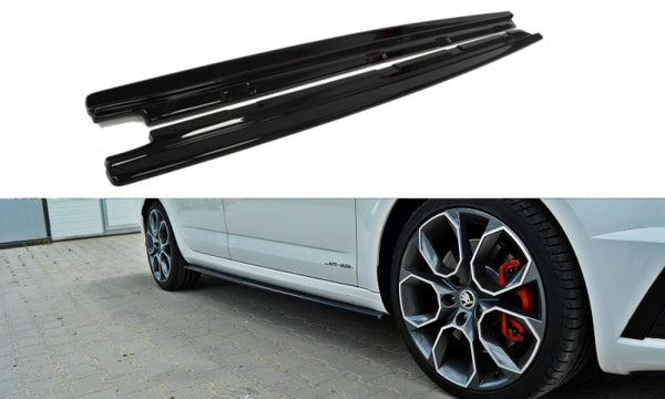 SIDE SKIRTS DIFFUSERS SKODA OCTAVIA III RS FACELIFT
