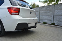 CENTRAL REAR SPLITTER BMW 1 F20/F21 M-POWER (WITHOUT VERTICAL BARS)