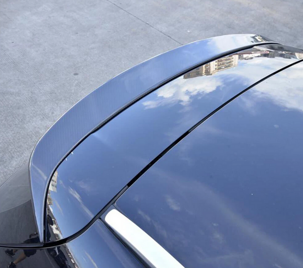 Mercedes Benz S205 Estate Carbon Fiber Rear Roof Spoiler Window Wing Lip