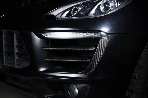 Cayenne Macan Carbon Fiber Fog Lamp Mask Cover