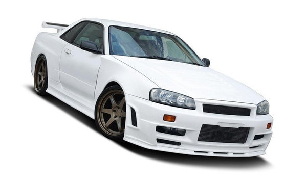 FRONT WIDE ARCHES Z-TYPE LOOK NISSAN SKYLINE R34 GTR (FOR Z-TYPE BUMPER)