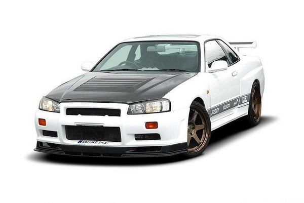 FRONT SPLITTER NISSAN SKYLINE R34 GTT (FOR 002299-1 BUMPER)