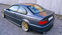 CENTRAL REAR SPLITTER BMW 3 E46 MPACK COUPE (with vertical bars)
