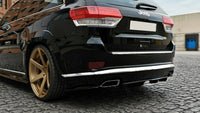 CENTRAL REAR SPLITTER Jeep Grand Cherokee WK2 Summit FACELIFT (with a vertical bar)