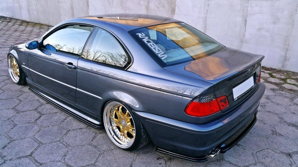 REAR SIDE SPLITTERS BMW 3 E46 MPACK COUPE