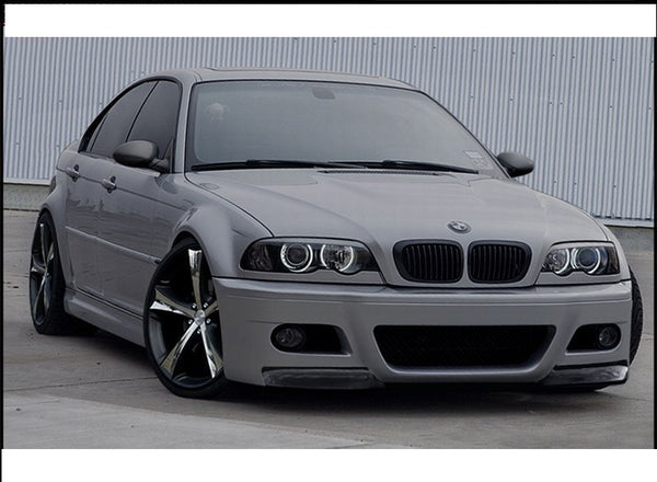 FRONT BUMPER BMW 3 E46 - 4 DOOR SALOON < M3 LOOK >