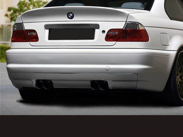 REAR BUMPER BMW 3 E46 - 4 DOOR SALOON < M3 LOOK > VERSION FITTING TO M3 EXHAUST