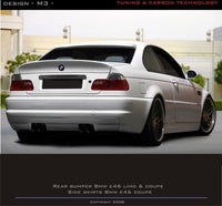 REAR BUMPER BMW 3 E46 COUPE & CABRIO < M3 LOOK > VERSION FITTING TO M3 EXHAUST