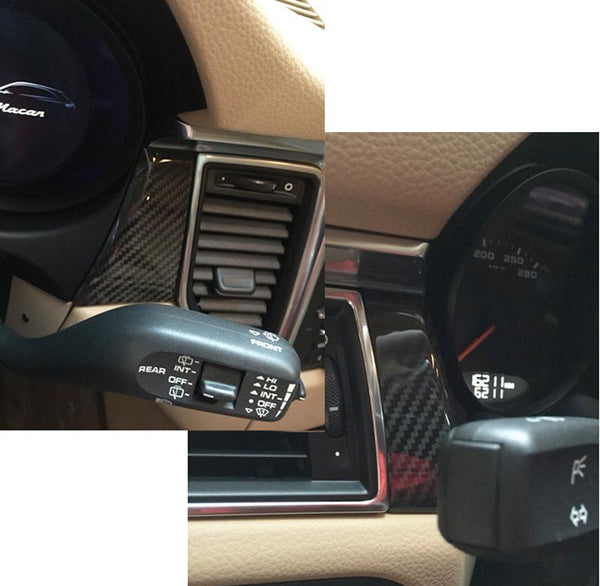 Carbon Fiber moulding trims dash board trims cover fit for Cayenne macan 2014-2015 7pcs/set