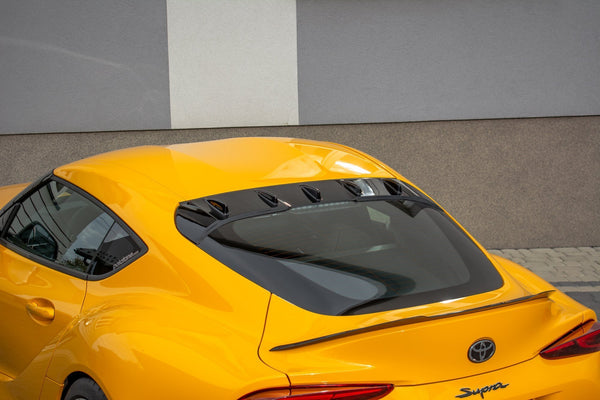 The extension of the rear window Toyota Supra Mk5