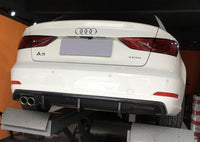 Carbon fiber Rear bumper diffuser SPOILER Fit For Audi A3 2014UP (NON S-LINE / S3)