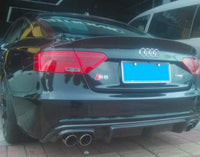 Carbon Fiber Rear Diffuser Facelift Rear Bumper Retrofit for Audi A5 S5 8T 12-14 (Fits:A5)