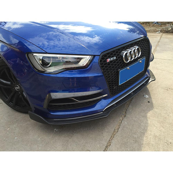 front bumper fog lamp cover fin trims 2pcs/set for Audi S3 Bumper 2015 Sedan