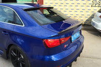 S3 Style Carbon Fiber Rear Spoiler For Audi A3 8V S3 4D Sedan 14UP