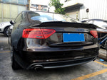 Audi A5 B8.5 Sline S5 Sportback Carbon Fiber Rear Trunk Boot Spoiler Wing Lip