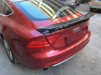 Audi A7 / S7 / RS7 TTS Style carbon fiber Rear Trunk Wing Spoiler 2010-2014